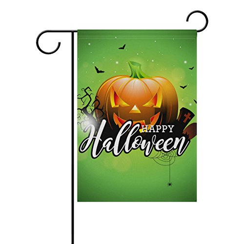 ColourLife Happy Halloween On Green Seasonal Holiday Garden