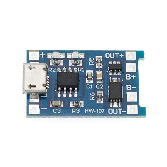 eHUB TP4056 Micro USB 5V 1A 18650 Lithium Battery Charging Board with LED Indicator Automatic Protection