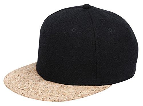 Solid Color Flat Brim Cap Men Women Hip Hop Snapback Baseball Hat with  Adjustable Closure 179dc5e5ef3