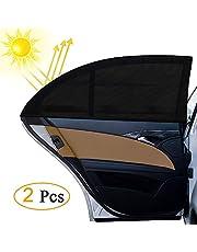 NEXGADGET Parasol de Coche para Ventanas Laterales de Alta Elasticidad Protege a Niños Bebes de las Quemaduras Solares, Apto para la Mayoría de los Vehículos Sedán Jeep Ford Buick Audi Volkswagen Honda Mazda