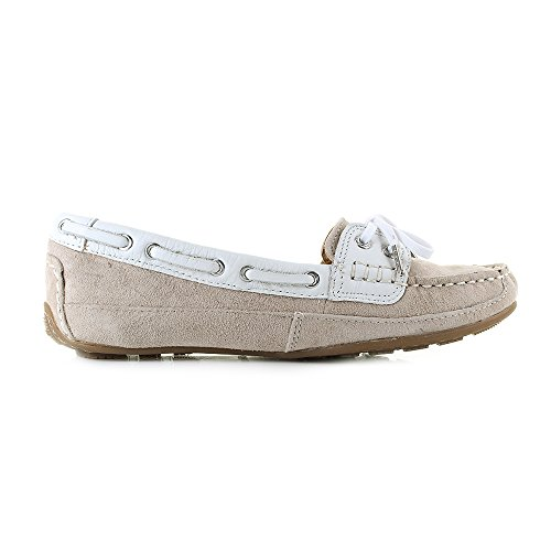 Women's Suede Bala Taupe Shoes Leather Beige Sebago Boat White wnTRa5nq