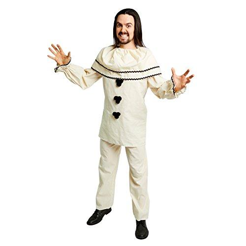 Mimes Costume Ideas (Men's Old-Fashioned Clown Costume, Cream (Standard))