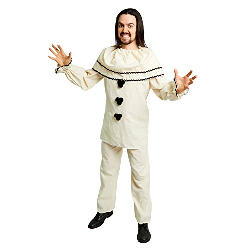 French Mime Costume Ideas (Men's Old-Fashioned Clown Costume, Cream (Standard))