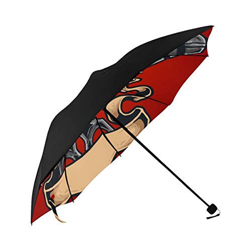 Adult Parasol Umbrella Evil Creative Monsters Lyrical Fire Underside Printing Portable Travel Umbrella Plastic Travel Umbrella Foldable Umbrella Stroller With 95% Uv Protection For Women Men Lady Girl]()