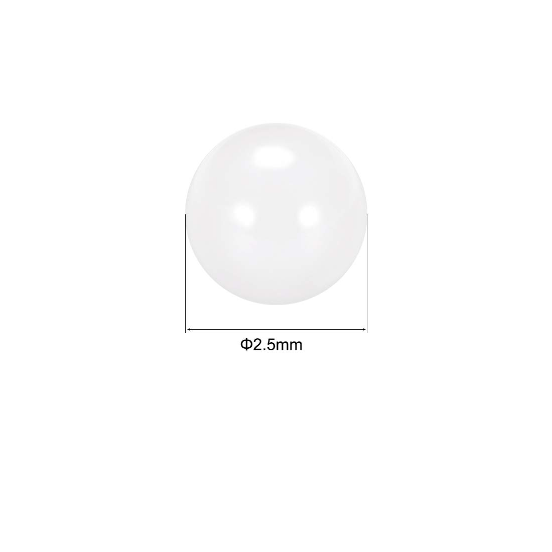 "10 PCS Ceramic Zirconia Oxide Loose Bearing Balls G5 ZrO2 3mm 0.1181/"""