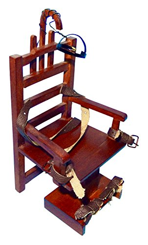 """Doll House Miniature Electric Chair """"Old Sparky"""" from Platinum Collection"""