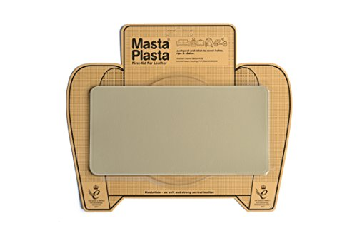 "MastaPlasta, Leather Repair Patch, First-Aid for Sofas, Car Seats, Handbags, Jackets, Plain, Beige large Stitch 8""x4"""