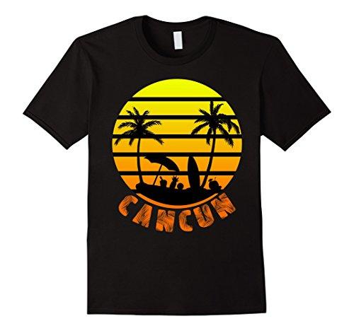 Mens Cancun Mexico Beach Palm Tree T Shirt Party Destination Gift Xl Black