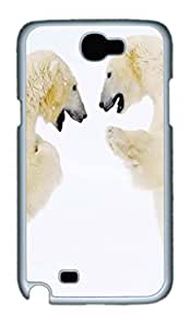 Cool Protective PC Case Skin For Case HTC One M7 Cover with Polar Bear Fight (White)