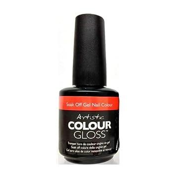 Amazon Artistic Nail Design Soak Off Colour Gloss Gel Polish