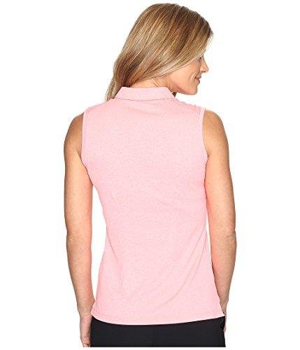 Nike Icon Sleeveless Heather Golf Polo 2017 Donna Lava Glow / Heather / Bianco