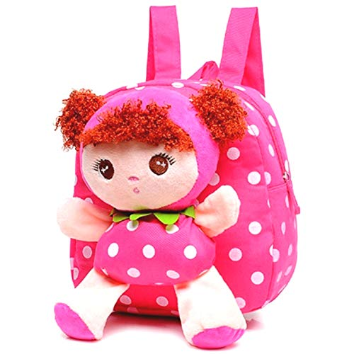 Little-Sweet Cute Kids Toddler Backpack Plush Toy Backpack Snack Travel Bag Pre-School bags For Girls 1-5years (pink)