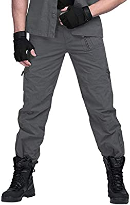 sunsnow Men's 101 Airborne Cargo Pants Multi Pockets Outdoor