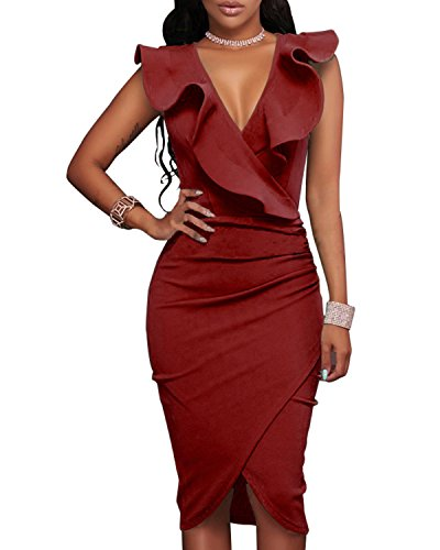 Tempt Ruffle Sleeveless Bodycon Party