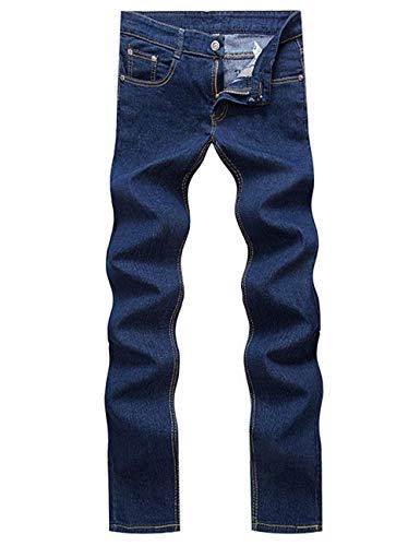 Adelina Mens Jogger Blau Stretch Retro Libero Cargo Abbigliamento Tempo Jeans Denim Pantaloni Skinny Dritti R1wRI