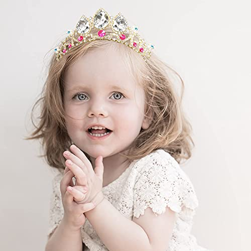 Bejeweled Headband for Girls Women Princess Colorful Birthday Party Hair Band Crystal Wedding Tiara Crown (Multi-Color)