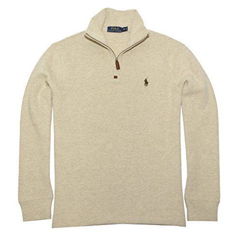 Polo+Ralph+Lauren+Men%27s+French+Rib+Half+Zip+Pullover+Sweater+%28X-Large%2C+Expedition+Heather%29