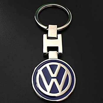 Amazon.com: Volkswagen Metal Key Chain Keyring Fob Silver ...