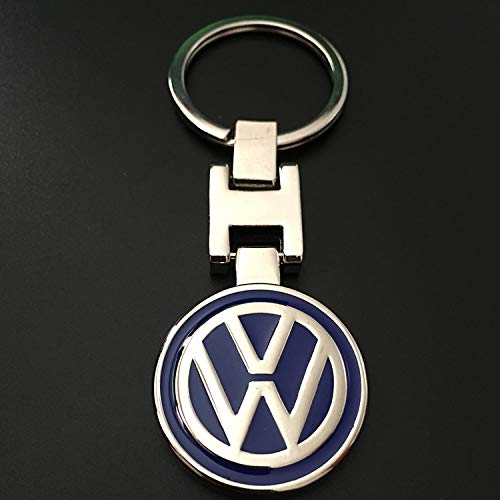 For VW Volkswagen Metal Rond Blue Keychain Key Ring 3D H Metal Key Chain keyring Double Side
