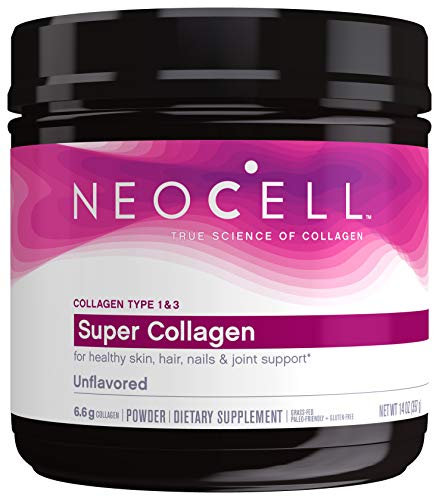 NeoCell-Super-Collagen-Powder-14-Ounces-Non-GMO-Grass-Fed-Paleo-Friendly-Gluten-Free-Collagen-Peptides-Types-1-3-for-Hair-Skin-Nails-and-Joints-Packaging-May-Vary-60-Servings