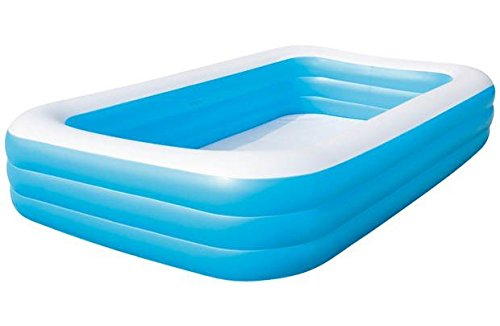 MWS2815 54009 Piscina rectangular inflable Bestway familia 3 anillos 305 x 183 x 56 cm