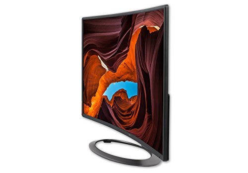 "SCEPTRE 27"" Curved LED Monitor C278W-1920R Full HD 1080P HDMI DisplayPort VGA Speakers, Ultra Thin Brushed Metallic, 1800R immersive curvature, 2017"