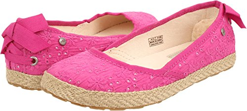 Girl's UGG Australia 'Tassy Eyelet' Flat, Size 13 M - Pink