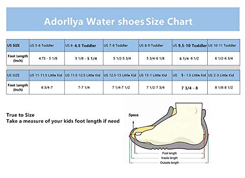 f5a9364543f Adorllya Water Shoes Aqua Socks Water Socks Swim Shoes for Kids Toddlers  Boys Girls