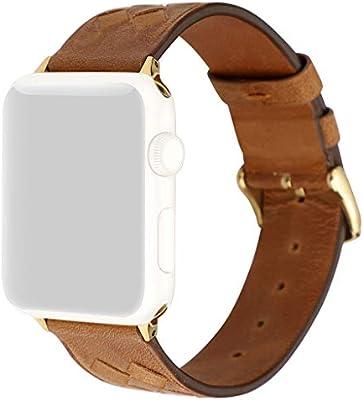Webla Avanzado reloj de correa de cuero suave para Apple Watch 1/2 ...
