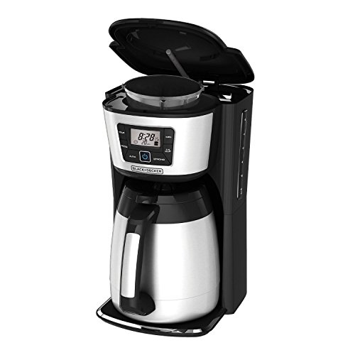 BLACK+DECKER CM2035B 12-Cup Thermal Coffeemaker, Black/Silver (Certified Refurbished) in the ...