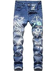 Fredd Marshall Men's Skinny Jeans Stretch Slim Straight Fit Fashion Basic Denim Pants