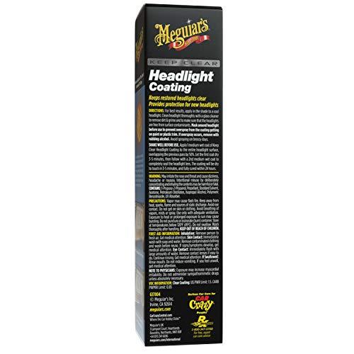 Meguiar's G17804 Keep Clear Headlight Coating, 4 oz. - Maintain the Clarity of Your Headlights
