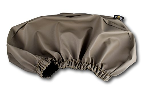 Colored Winch Cover By El Jefe | Dust-proof, Waterproof, UV & Mildew-Resistant Winch Protection Cover W/ Sewn-In Elastic Band | Ideal For Electric Winches Up To 17500 Lbs (Gray)