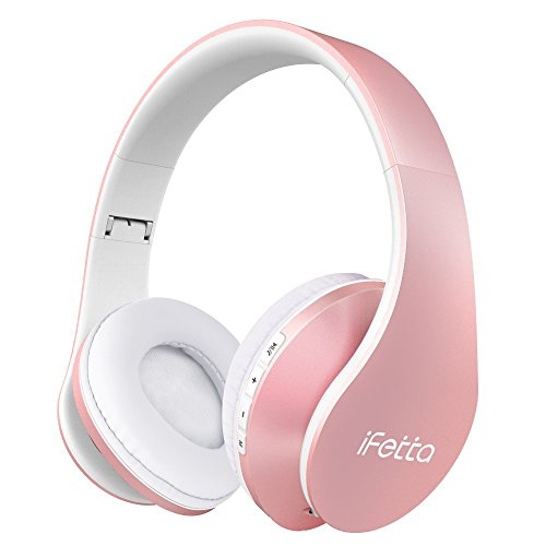 Bluetooth headphones pink