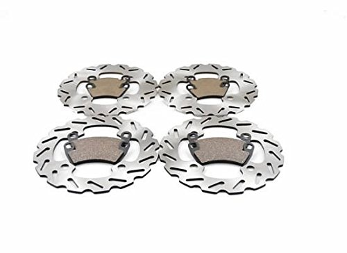 Polaris RZR XP 900 Front and Rear Brake Sport Rotors and Brake Pads by CycleATV (Image #1)