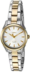 Timex Women's 'Chesapeake' Quartz Brass and Stainless Steel Dress Watch, Color:Silver-Toned (Model: TW2P819009J)