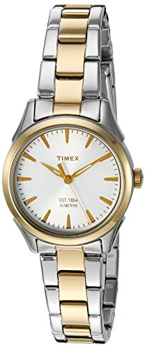 (Timex Women's 'Chesapeake' Quartz Brass and Stainless Steel Dress Watch, Color:Silver-Toned (Model: TW2P819009J))