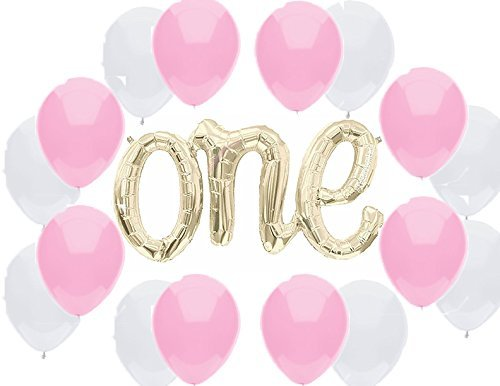 American Balloon Company Fun to Be 1 Balloon Banner Kit for Girl 1st Birthday (And 1 1 Company)