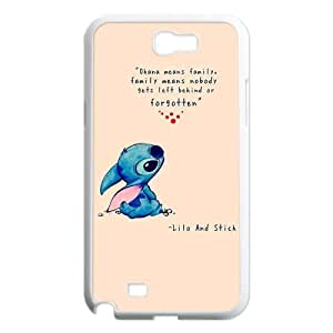 DiyCaseStore Custom Personalized Disney Lilo and Stitch Samsung Galaxy Note 2 N7100 Best Durable Cover Case - Ohana means family,family means nobody gets left behind,or forgotten.