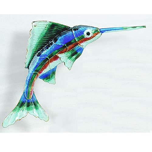 Home and Holiday Shops Blue Sailfish Enamel Cloisonne Metal Christmas Tree Ornament Sea Life New