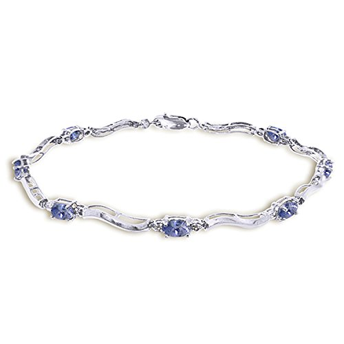 Galaxy Gold 2.01 CTW 14K Solid White Gold Tennis Bracelet Diamond Tanzanite 14k Yellow Gold Tanzanite Bracelet