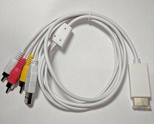 [HDMI to Composite A/V Converter Cable] (Adc Converter)