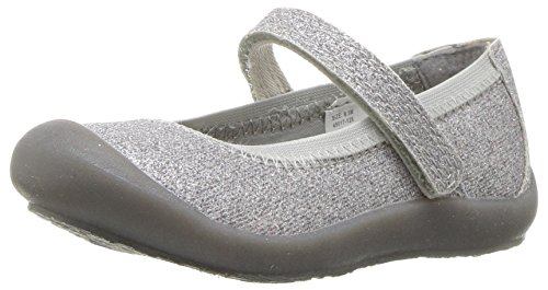 s' Ania Casual Mary Jane Flat, Silver, 1 M US Little Kid (Girls Mary Jane Shoes)