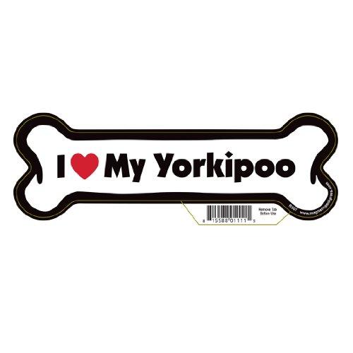 Yorkipoo Dog Bone Magnet