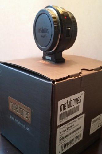 Metabones Nikon G Lens to Blackmagic 2.5k Cinema Camera with Micro 4/3 Speed Booster, Matte-Black by Metabones