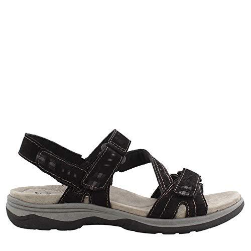 Earth Origins Women's, Holland Sandals Black 8.5 W (Sandals Shoes Womens Earth)