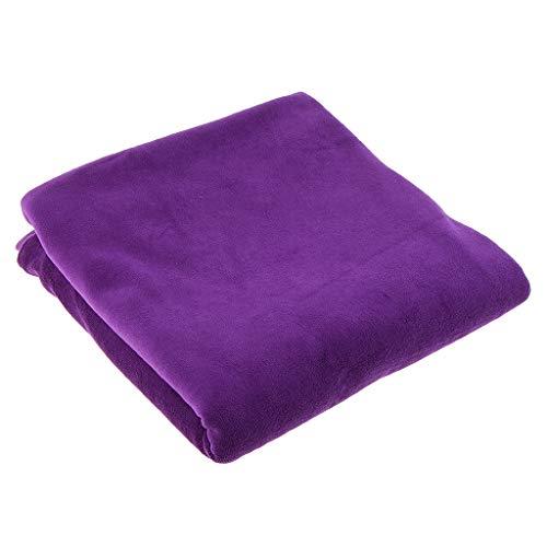 SM SunniMix Soft Cotton Velvet Fabric for Curtain Upholstery Cushion Craft Sewing 1 Yard - Purple