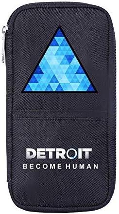Detroit Become Human Federmäppchen Bleistift-Kasten Studenten Printed Tasche Durable Briefpapier Aufbewahrungstasche Bleistiftbeutel (Color : Black04, Size : 21 X 10cm)