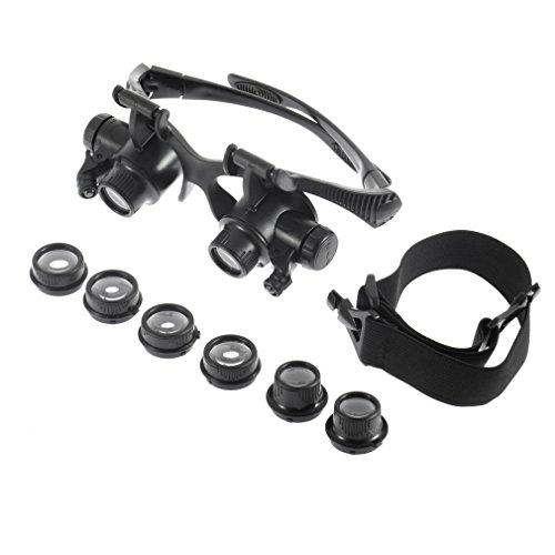 Magnifying Glasses with Light - Watch Jewelry Repair High Powered Magnifying Goggles Magnification 10X 15X 20X 25X