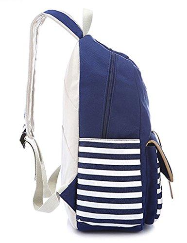Greeniris mujer lona mochila linda colegio mochila para niña Rosado